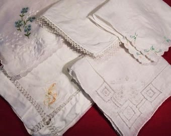 Antique Hand-tatted Handkerchiefs (Set of 12)