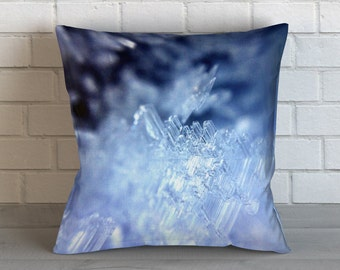 Ice Crystals 4 Pillow