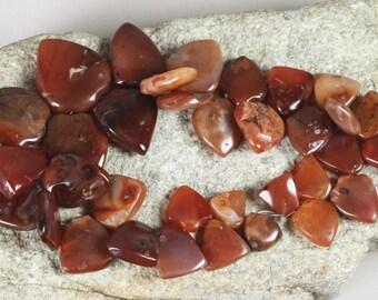 33 Large African Carnelian Beads, African Beads, Ethnic Beads, Jumbo Beads