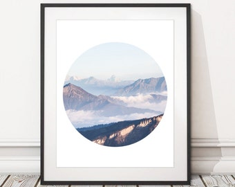 Mountains Photography Print Download | Mountain Photography Print Printable | INSTANT DOWNLOAD| Mountains Photography Print Digital Download