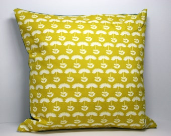 Scandinavian style flower cushion in yellow (cushion pad included)