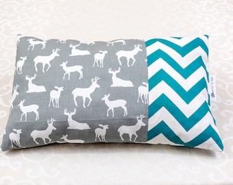 Deer/chevron pillow turquoise