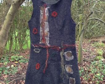Handgevilte jurk