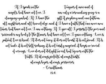 Corinthians 13:4 Instant Download