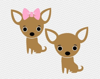 Chihuahua svg, dog svg, Clipart Cut Files Silhouette Cameo Svg for Cricut and Vinyl File cutting Digital cuts file DXF Png Pdf Eps vector