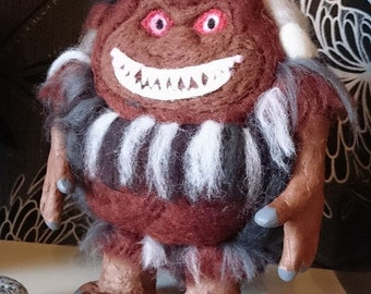 "OOAK, handmade, custom needle felted 9"" Critters horror movie polymer clay doll"