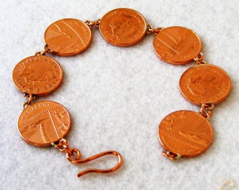 Bracelet - 7x1 UK pence pieces