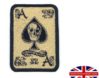 Ace of Spades - Iron on Sew on Patch