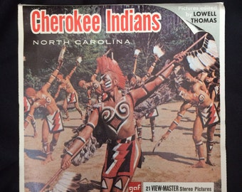 Vintage GAF View-Master Cherokee Indians North Carolina Packet w/ 3 reels  A 891 Great Smokies