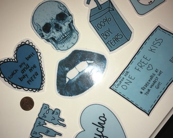 One Large blue aesthetic sticker