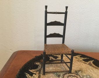 Miniature Dollhouse Ladderback Chair 1:12 scale handcrafted
