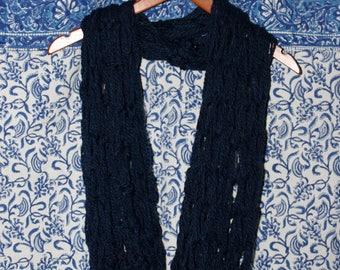 Hand-Made Navy Infinity Scarf
