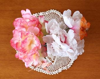 "Handmade White Organic Cotton Crochet Serviette ""Faith"""
