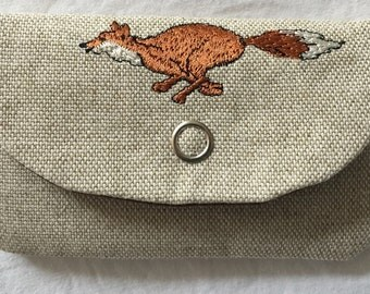 Fox business card/credit card/gift card holder, fox hunting gift, gift for him, equestrian gift,
