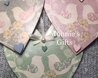 Wedding, Anniversary, Valentines Love Birds Heart 15cm