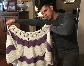Handmade Crocheted Shawl
