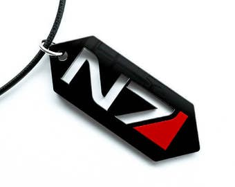 Mass Effect N7 symbol Pendant, Key chain or earrings