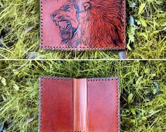 Card holder / wallet in leather, fully customizable.