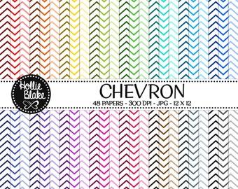 50% off SALE!! 48 Chevron Digital Paper • Rainbow Digital Paper • Commercial Use • Instant Download • #CHEVRON-112-1