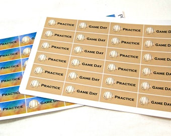 Planner Stickers - Volleyball Stickers - Happy Planner Stickers - Day Designer - Functional Stickers - Game Day Stickers - Practice