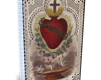 Sacred Heart of Jesus (Bouasse-Lebel) Lined Journal, Made in the USA