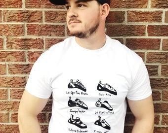 Climbing Shoe Screen-printed T-shirt