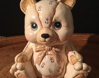 Vintage Geo Z Lefton Teddy Bear Bank.