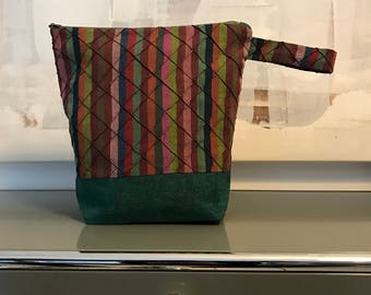 Knitting project bag, Kaffe Fasset fabric, also for crochet, stitching and many more