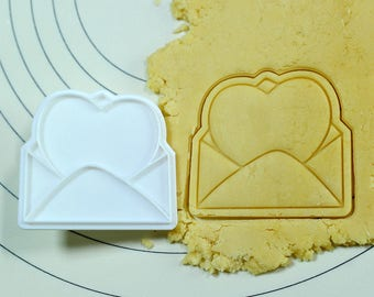 Heart Letter Cookie Cutter and Stamp
