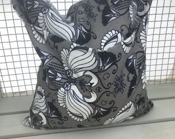 Gray swans corn bag. Cornbag. Handmade reusable corn bag. Heating/cooling pad. Microwave heat pad.