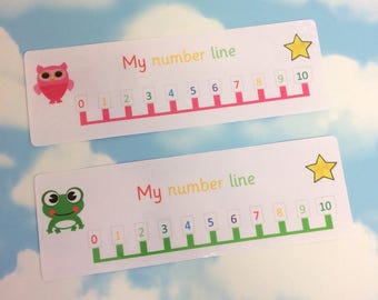 Number line to 10, Early years, 2 colours available, Teaching resource, Visual learners, Children's development, Nursery, EYFS