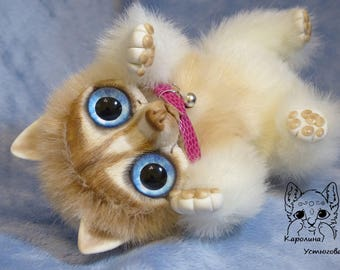 140 Collection Doll (Toy) Doggie of the breed: Siberian Husky redhead with blue eyes.