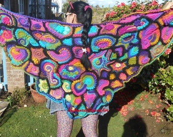 Freeform Crochet Wrap Shawl