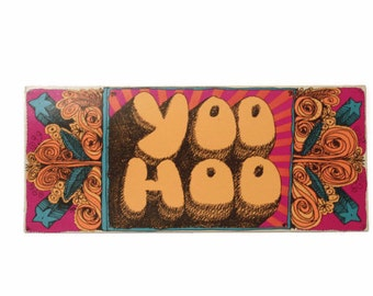 Vintage Greeting Card, YooHoo, Retro Greeting Card, Just Saying Hi, Groovy Card, Unused Greeting Card, Just Because Card,