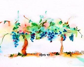 Vineyard on the Mountain of Har Bracha - Card
