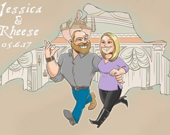 Custom Cartoon Save The Dates