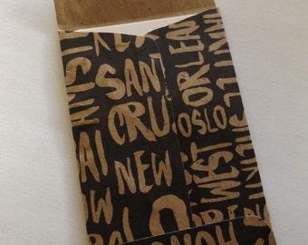 Recycled Hard Rock Cafe Gift Card Envelope Money Envelope Coin Envelope Gift Card Holder (Listing #3)