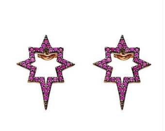 Stellar Earrings in Pink