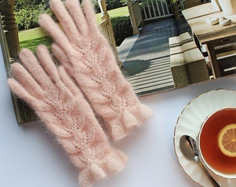 Hand-knitted gloves  Gloves With Fingers  Gloves & Mittens  Gifts for Her Women's Gloves Warm Gloves Mohair gloves Winter Gloves