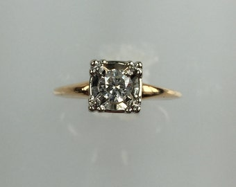 Vintage 1940's diamond engagement ring .22ct