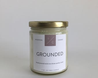 GROUNDED essential oil soy wax candle