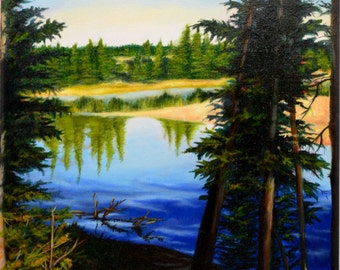 "Original Oil Unframed Artwork ""Yellowstone"""