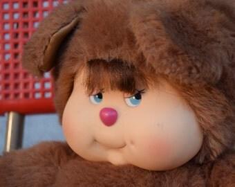 80's / cuddly plush Nombrilou Kiki Monchichi buddy