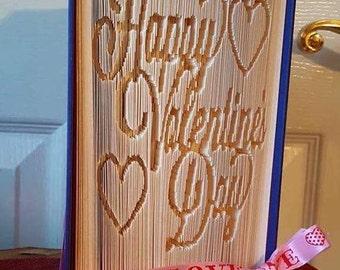 Happy Valentines Day Book Folding Pattern