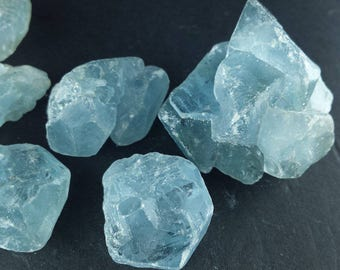 CELESTITE 1/4 Lb Lots Rough Mineral Natural Blue Crystal Clusters