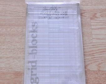 GBXL  Jim Holtz Collection - Clear Grid  Blocks - 9 assorted sizes - (9 pc set) - 1 pkg