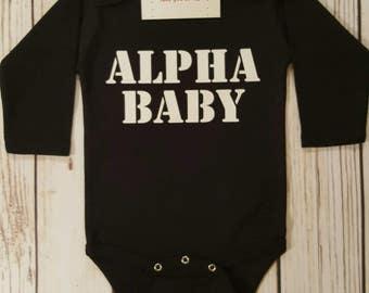 Baby Boy Clothes, Alpha Baby Bodysuit