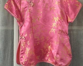 Silky Asian inspired blouse