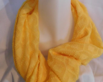 Buttercup yellow infinity scarf