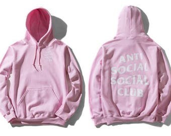 AntiSocial Social Club PINK Hoodie Anti Social Social Club Hooded Sweatshirts